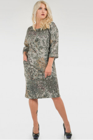 Платье «Шания» зеленый тон