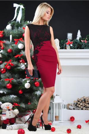 Сукня «Клайсі» бордового кольору