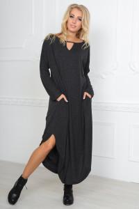 Сукня «Ніколь» темно-сірого кольору