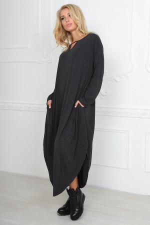 Платье «Николь» темно-серого цвета