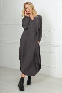 Платье «Николь» серого цвета