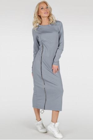 Платье «Астрид-весна» серого цвета