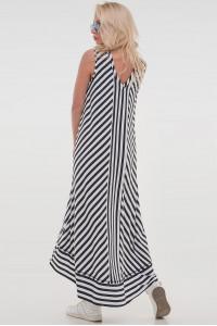 Платье «Блайд-фирт» в черно-белую полоску