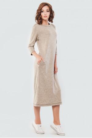 Платье «Энджи» бежевого цвета