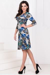 Платье «Ламоль» синий тон