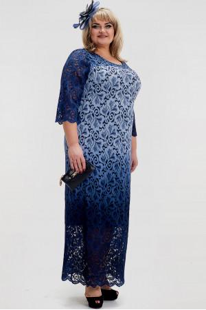 Платье «Торжество» голубого цвета