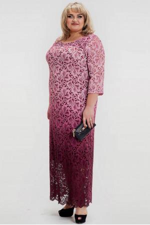 Платье «Торжество» бордового цвета