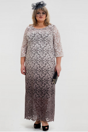 Платье «Торжество» бежевого цвета
