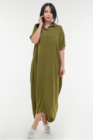 Платье «Огаста» цвета хаки