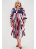 Платье «Аманди» синего с красным цвета
