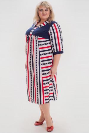 Сукня «Аманді» синього з червоним кольору