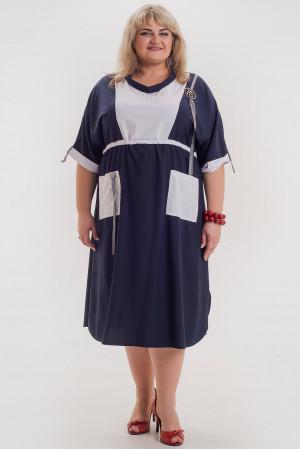 Платье «Рокси» синего цвета