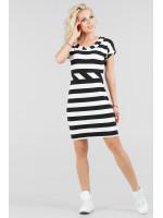 Сукня «Корді» чорна з білим