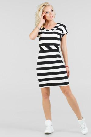Сукня «Корд» чорна з білим