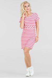 Сукня «Корд» рожева з білим