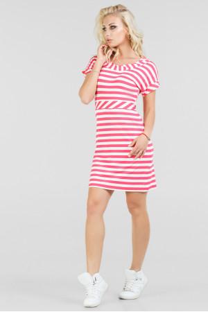 Платье «Корди» розовое с белым