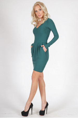 Платье «Мильфор» зеленого цвета