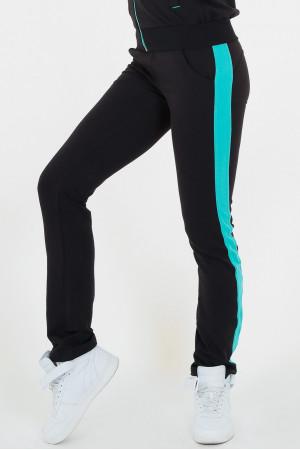 Спортивний костюм «Лайт» чорно-зеленого кольору