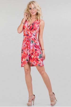 Платье «Линди» красного цвета
