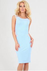 Платье «Этель» голубого цвета