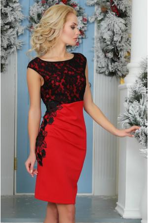 Платье «Клайси» красного цвета
