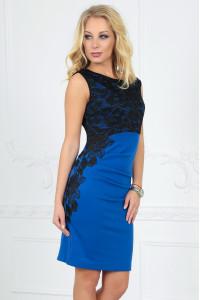 Платье «Клайси» цвета электрик