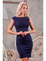 Платье «Клайси» темно-синего цвета