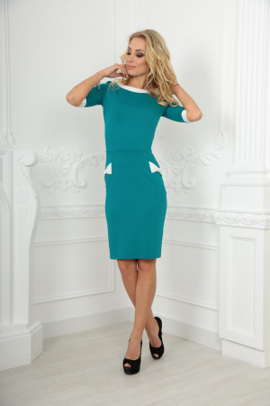 Платье «Ивон» цвета морской волны