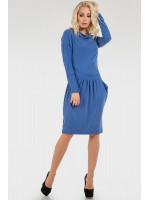 Платье «Ивин» голубого цвета
