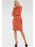 Платье «Ивин» оранжевого цвета
