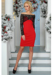 Платье «Домиро» красного цвета