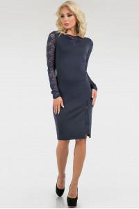 Платье «Моник» темно-синего цвета