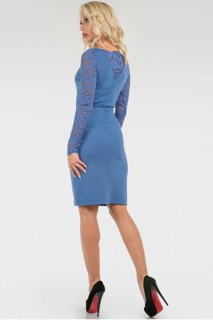 Платье «Моник» цвета джинс
