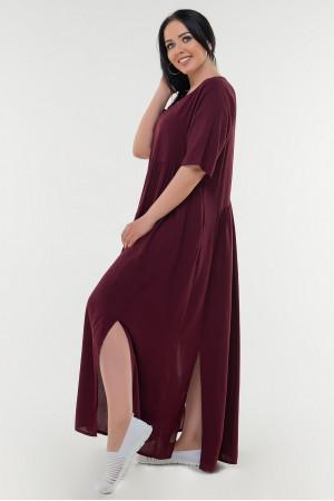 Платье «Алиша» цвета марсала