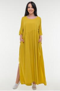 Платье «Алиша» горчичного цвета
