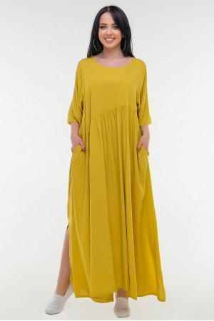 Сукня «Аліша» гірчичного кольору