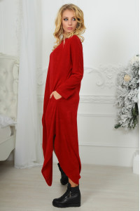 Сукня «Фіа» бордового кольору