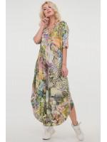 Платье «Николь-лето» зеленый тон