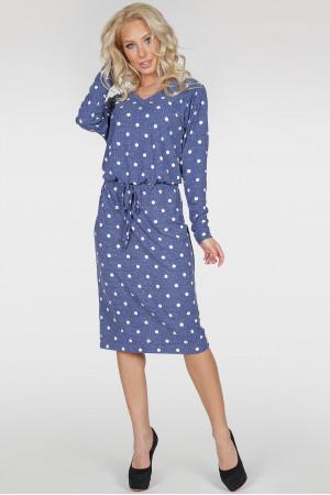Платье «Мойра-весна» цвета джинс