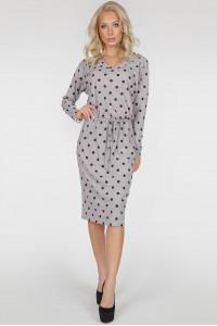 Сукня «Мойра-весна» світло-сірого кольору