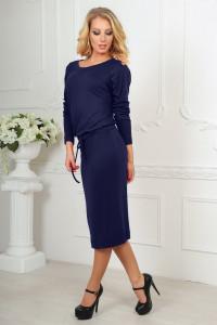 Платье «Мойра» темно-синего цвета
