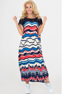 Сукня «Брая» синього кольору з червоним