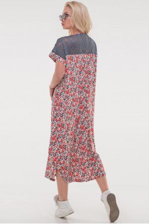 Платье «Брая» красного цвета