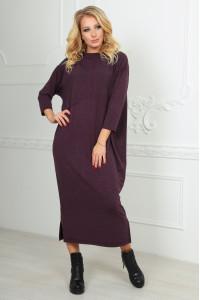 Платье  «Двина» бордового цвета