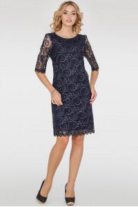 Платье «Марго» синего цвета