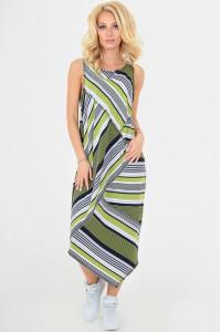Платье «Ильсей» оливкового цвета