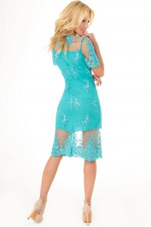 Платье «Эмилия» цвета морской волны