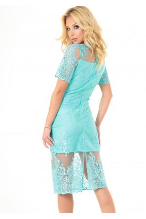 Платье «Эмилия» мятного цвета