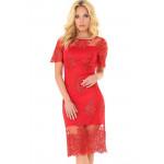 Платье «Эмилия» красного цвета