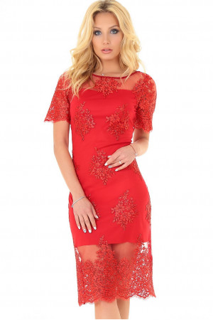 Сукня «Емілія» червоного кольору